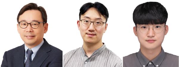 (왼쪽부터) 신의철 교수, 이정석 연구원, 박성완 연구원
